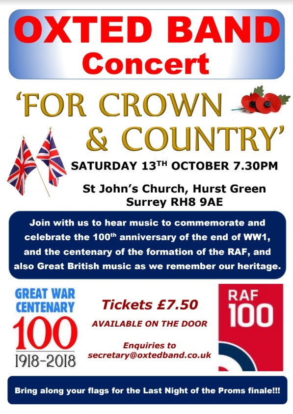 Oxted Band - For Crown and Country