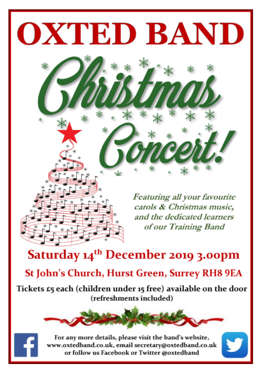 Oxted Band Christmas Concert 2020